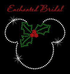 Disney Inspired Mickey With Holly Iron On by EnchantedBridal, $6.50