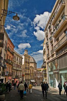 Via Manno, parte alta prima di Via Cima - Cagliari, Sardinia, Italy