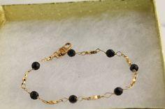 Azabache/Jet Bracelet. Listing 259729595 by Ptcreationsjewelry