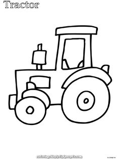 Legendary Tractor coloring for younger kids coloring – Kleurplaten.nl You are in the right place about Coloring Pages cats Here we offer you the most. Tractor Coloring Pages, Farm Animal Coloring Pages, Coloring Books, Colouring, Cute Easy Drawings, Art Drawings For Kids, Drawing For Kids, Colors For Toddlers, Farm Quilt