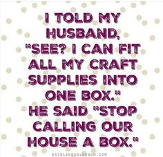 Our house is a box! It is so funny because I literally said this, and then we…