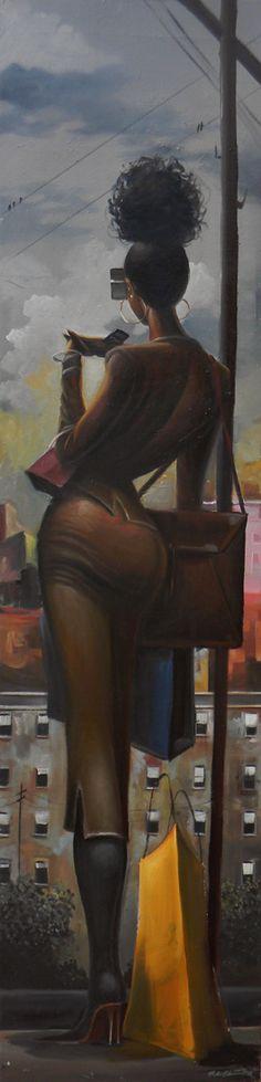 "frank morrison | The Boss"" A painting from artist, Frank Morrison."