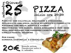 Serata Degustazione Pizza! 25 settembre