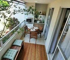 A little kitchen in a balcony. Cleverly:)