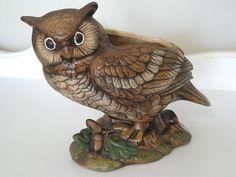 Vintage Planter  Wide Eyed Owl  1960's  NehiandZotz by NehiandZotz, $25.00