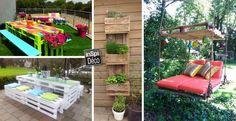 20 créations en palettes pour votre jardin! Laissez-vous inspirer... Créations en palettes pour votre jardin! Voici 20 idées créatives... Laissez-nous vous inspirer! Amusez-vous bien et bonne récup! 20 idées pouraménager votre jardin avec des...