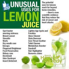 Excellent Benefits of Lemon Juice