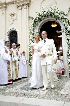 7-2-11 Religious ceremony of Princess Charlene of Monaco and Prince Albert II of Monaco.