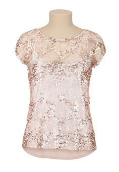 High-low Sequin Tee (original price, $29) available at #Maurices - would be so cute to layer