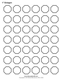 Blank Octagon Template. A free printable that would be great for paper piecing by timvandevall.com.