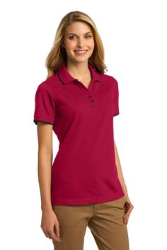 Ladies Polo, tipped collar and cuffs  #embroidery #ApronEmbroidery #CustomPolo #PortAuthorityClothing #CustomEmbroidery #CustomLogo #ScreenPrinting