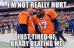 wait... didn't we beat them? hm...... SUPER BOWL 50 HERE WE COME! GO BRONCOS