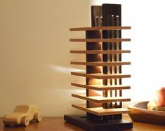 lamp te vragen high-end massief hout verlichting LED   Etsy