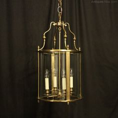 Antiques Atlas - English Brass Four Light Antique Hall Lantern