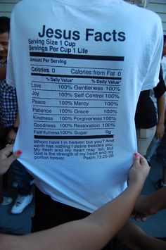 Jesus Facts ~ Cool Shirt! | Grace With Him