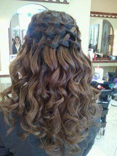 Added By Lisa Lear. #wedding #prom #hair #braids  @bloomdotcom