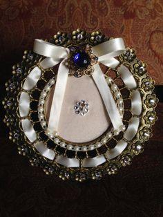 engagement gift ring holder wedding keepsake by TheCrystalFlower, $75.00