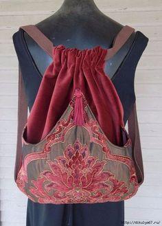 Rich Chenille Tapestry Backpack Dark Rust And Burgundy Iridescent Brown Boho Backpack Backpacks Sling Bags School Bags Book Bags Bourgogne et Chenille riche tapisserie Backpack par piperscrossing Sacs Tote Bags, Sling Bags, Boho Bags, Fabric Bags, Handmade Bags, Purses And Bags, Backpacks, My Style, Diy Bags