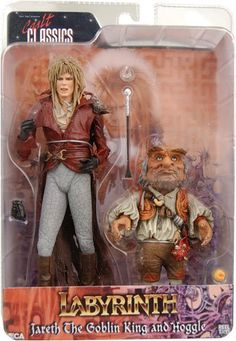 Neca Labyrinth Jareth and Hoggle Action Figure 2 Pack ** Details can be found by clicking on the image. (This is an affiliate link) David Bowie Labyrinth, Labyrinth 1986, Labyrinth Movie, Videogames, Labrynth, Goblin King, Jim Henson, Action Figures, Childhood