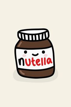 Cute Nutella Jar Illustration Android Wallpaper high quality mobile wallpapers for your iPhone, android or tablet - beautiful and inspiring smartphone backgrounds for free. Emoji Wallpaper, Trendy Wallpaper, Cute Wallpapers, Food Wallpaper, Iphone Wallpapers, Cute Kawaii Drawings, Kawaii Cute, Tumblr Stickers, Cute Stickers