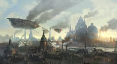 #Art of the Day. Lyonesse City by flaviobolla on DeviantArt  Super cool