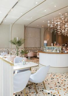 uses Italian terrazzo to create timeless design for new cafe in the Dubai Mall Design Mena Interior Design Dubai, Scandinavian Interior Design, Commercial Interior Design, Interior Design Companies, Contemporary Interior Design, Home Interior, Decor Interior Design, Interior Decorating, Scandinavian Restaurant