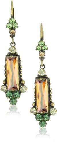 "Sorrelli ""Water Lily"" Crystal Elegant Dangle Gold-Tone Earrings"