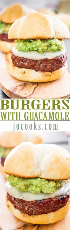 "Burgers with Guacamole aka ""The Beast"""