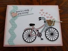 Last additions - A Little Bicycle Love - The Stamps of Life Gallery Birthday Wishes, Birthday Cards, Bicycle Cards, Coffee Cards, Stampin Up Cards, Cricut Cards, Heart Cards, Cool Cards, Kids Cards