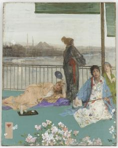 """""""Variations in Flesh Colour and Green - The Balcony"""" (1864-1870; additions 1870-1879) 