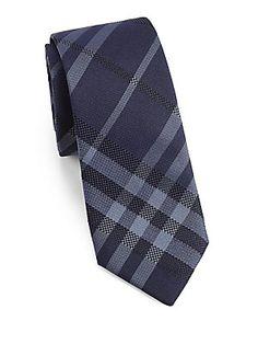 Burberry London Rohan Check Silk Tie