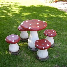 Fairy toadstool table and chair set....