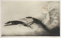 Louis Icart, Femme aux Levriers, 1929