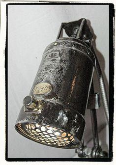 Small Spot Rustic Vintage Lamp - desk-lamps