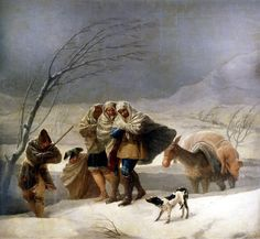 """El invierno. """" la nevada"""" de Goya"""