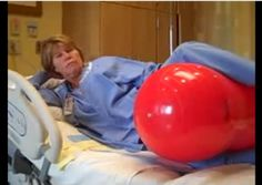 Peanut ball between the legs for moms with an epidural - shorter labor, lower cesarean rates!