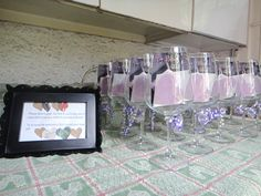 Wine glass party favor? & They can be used the day off to eliminate the need for plastic ware!