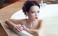Angelina Petrova Red Lips Girl Check more at http://hdwallpaperfx.com/angelina-petrova-red-lips-girl/