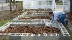 Creative Raised Garden Bed Designs | Step 3: Install landscape fabric/ place blocks
