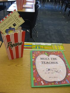 Meet Your Teacher Back to school theme Carnival Classroom, New Classroom, Preschool Classroom, Classroom Themes, Movie Classroom, Classroom Setting, Kindergarten, Letter To Teacher, Meet The Teacher