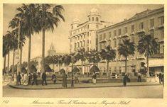 Les Jardins Français et l'Hôtel Majestic - Années 1930 - Alexandria, Egypt
