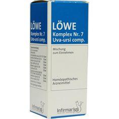 LOEWE KOMPLEX Nr. 7 Uva ursi comp. Tropfen:   Packungsinhalt: 50 ml Tropfen PZN: 00163920 Hersteller: Infirmarius GmbH Preis: 8,64 EUR…