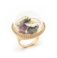 Curios Bee & Floral Ring