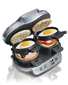 Hamilton Beach 25490 Dual Breakfast Sandwich Maker (Dual Makes 1 to 2 sandwiches) Hamilton Beach