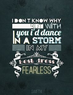 Fearless. Taylor Swift.
