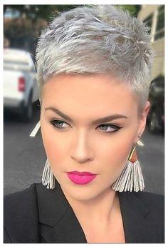 Short Hair Undercut, Haircut For Thick Hair, Short Pixie Haircuts, Undercut Hairstyles, Pixie Hairstyles, Wedding Hairstyles, Hairstyle Short, Updo Hairstyle, Pixie Haircut Styles