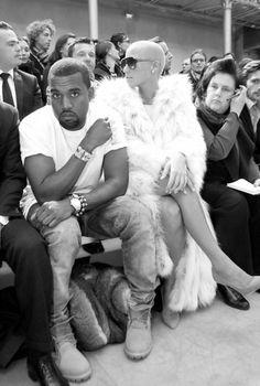 Kanye West / dad & Amber Rose / mom