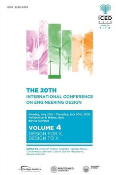 Proceedings of the 20th International Conference on Engineering Design (ICED 15) Volume 4: Design fo