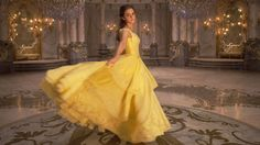 Emma Watson as Belle from Beauty and the Bears wearing everyone's favorite dress.