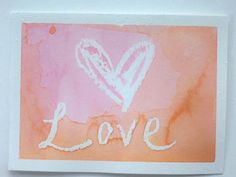 The Next Bird: Watercolor Valentines Day Cards  White crayon resist.  This would make a fabulous art center activity for February.